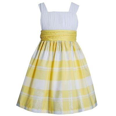 Spring Summer Easter Dress -  NEW Bonnie Jean  EASTER  Plaid  Spring Summer  Party Girls  Dress  4, 5, 6, 6X