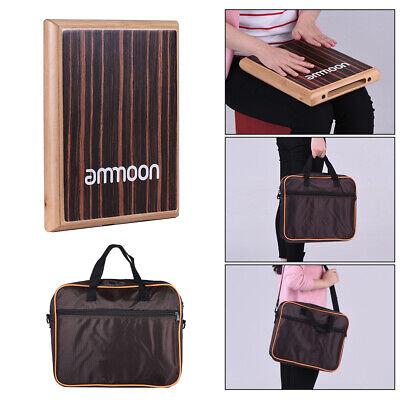 ammoon Compact Travel Box Drum Cajon Drum Flat Hand Percussion Instrument X6Y1