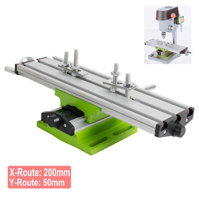 X Y Axis Milling Compound Working Table Cross Sliding Bench Drill Vise Fixture