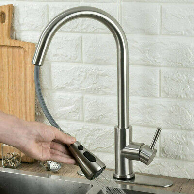Kitchen Sink Mixer Faucet Pull Out Sparyer Tap 360 Degree Rotation Single Handle