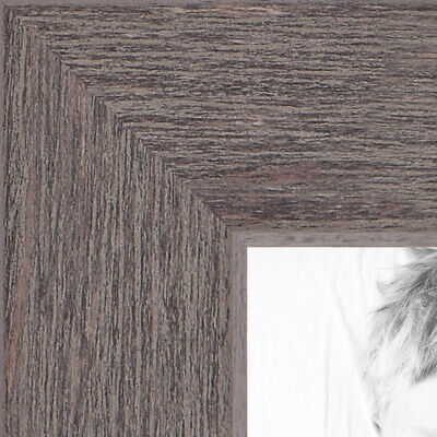 ArtToFrames Custom Picture Poster Frame Gray Grey Rustic  1""