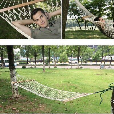 Outdoor Swing Hanging Camping Cotton Bed Patio Spreader Hammock  Stripe Hammock