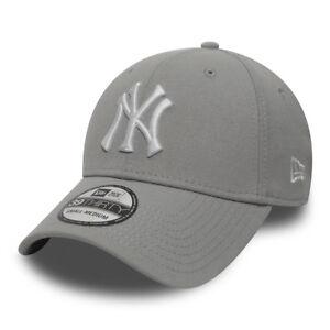 New Era New York Yankees Team Logo 39THIRTY Men s Cap - Grey d4182025b9cf