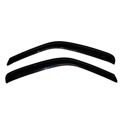 AVS Rainguards for 96-18 Chevy Express, 96-18 GMC Savana; Smoke Tape 2pc; #92455