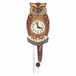 Alexander Taron Black Forest Owl 8-Inch Wall Clock, Other Materials