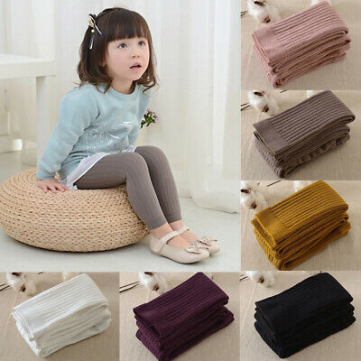Baby Girl Kid Thick Knitted Tights Pantyhose Stockings Strech Sock Pant Trousers ()