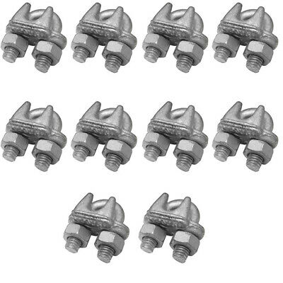 10 Pc Marine Wire Rope Cable Clips Cable Clamp 38 Drop Forged Galvanized