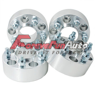 4PC 2'' 5x4.75 Hubcentric Wheel Spacers Adapters 12x1.5 Studs for Chevy Pontiac