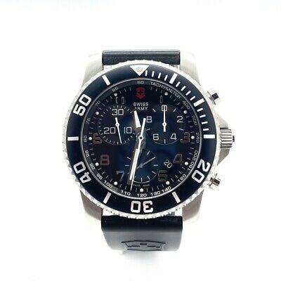 Qyartz Victorinox Swiss Army 241143 Chronograph Black Dial Men's Watch