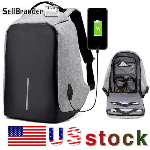 Unisex Anti-Theft Backpack Laptop Travel Chest School Bag Wi