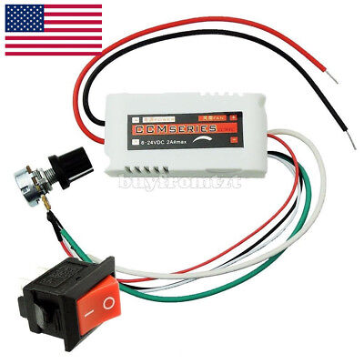 Dc 12v Pwm Motor Speed Control Controllor For Fan Pump Oven Blower Wswitch Us