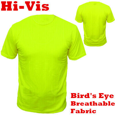 High Visibility T-Shirts Hi Vis Tee Non Ansi Safety Work T-Shirt Neon Lime Green