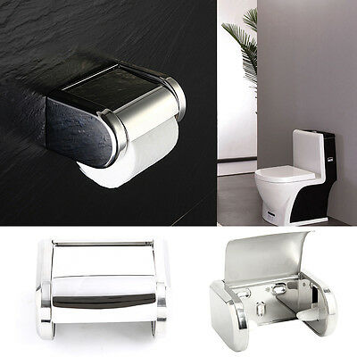 Stainless Steel Bathroom Toilet Wall Mounted Chrome Paper Tissue Box Holder
