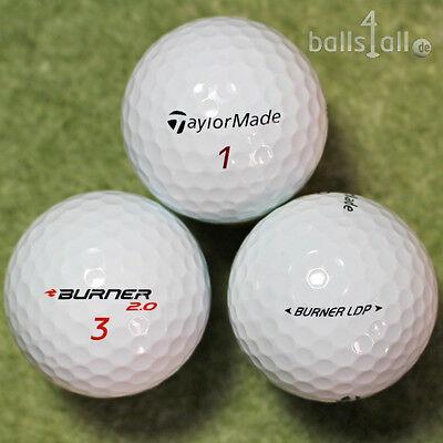 150 Golfbälle Taylor Made Burner AAA/AAAA Qualität Top Lakeballs Bälle weiß ()