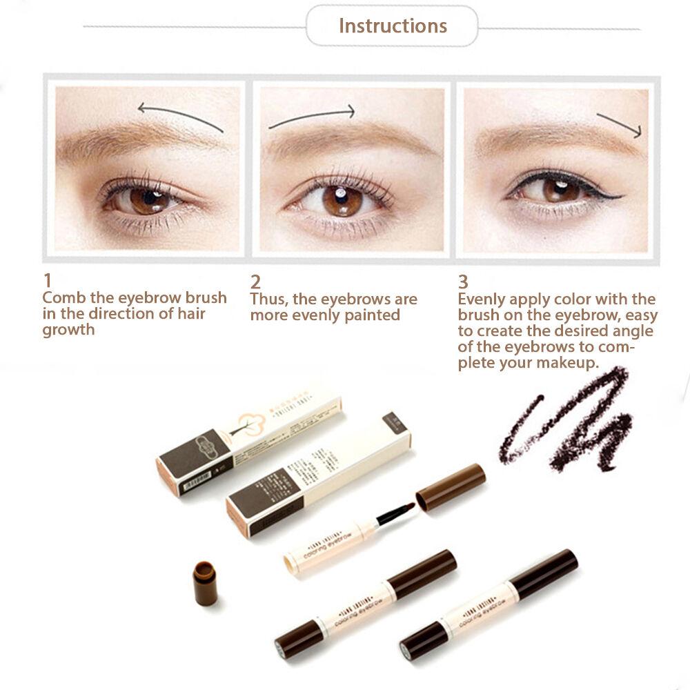 NANDA Long Lasting Eyebrows Tint Coloring Pencil Brush Waterproof ...