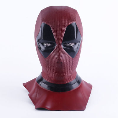 High quality X-Men Deadpool Mask Cosplay Costume Mask Halloween Hood Full Face