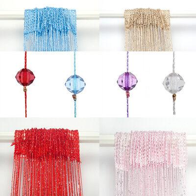 US Colorful String Tassel Crystal Bead Window Door Room Panel Curtains Decor Lot - Mint Room Decor
