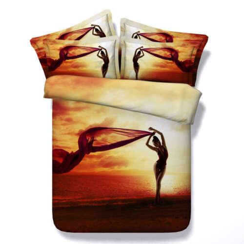 Women Scarves Sea 3D Printing Duvet Quilt Doona Covers Pillo