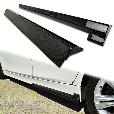 SHIP FROM LA Carbon 3-Series BMW F30 4D F31 5D Body Kit Side Skirt Add On