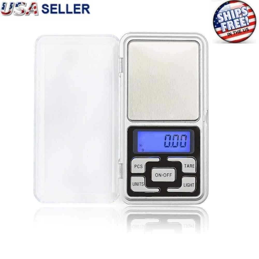 Digital 500g x 0.1g Scale Jewelry Portable Pocket Balance Gram OZ. LCD Herb Gold Jewelry & Watches