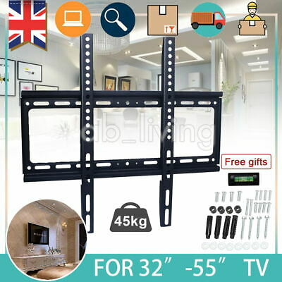 TV Wall Bracket Mount Slim For TV 26 30 32 37 40 42 47 50 55 inch LCD LED Plasma
