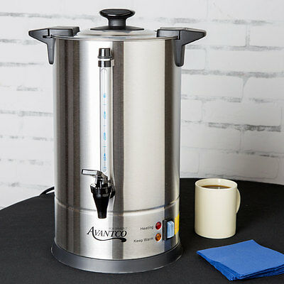 55 Cup Silver Stainless Steel Commercial Restaurant Catering Coffee Urn Brewer