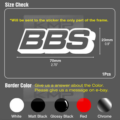 """BBS Speed Mania Fashion Decal Sticker 70mm x 23mm (2.75""""x0.9"""") For All Vehicles"""