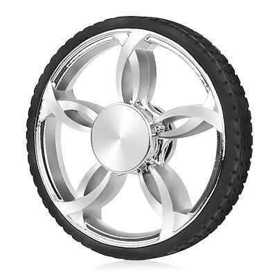 Silver Tire Fidget Hand Spinner Focus Desk Toy EDC ADHD Autism KIDS ADULT