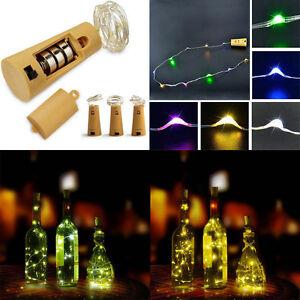 15-LEDs-cork-shape-botella-mini-Tiras-de-luces-Alambre-Cobre-estrellada