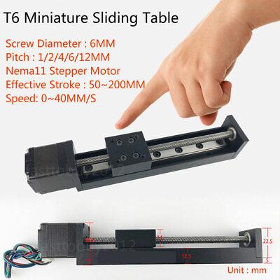 Linear Slide Z Axis Linear Actuator Module T6 Leadscrew Sliding Table 50-200mm