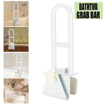 New Medical Bathroom Bathtub Grab Bar Shower Safety Handle Rail Tub Clamp White