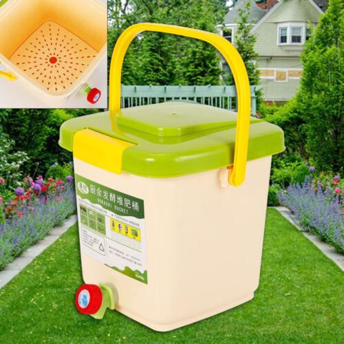 Bokashi Eimer Küchenkomposter Kompostbehälter Starterset Belüftet Huas 9L DE