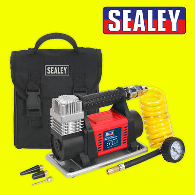 Sealey MAC04 12v Heavy Plugin Car Bike Digital Tyre Inflator Air Compressor Pump