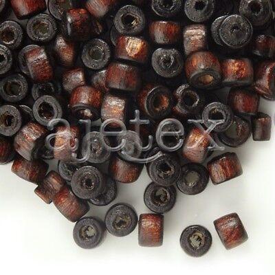 ca.1200 Stk.Holz Perlen Kräppel  Spacer Beads Großhandel 3x4mm Braun WB0018