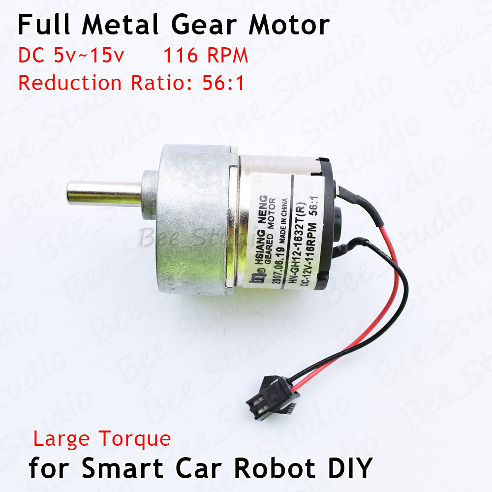 Micro mini 25mm Full Metal Gear Motor DC5V 6V 180RPM Speed Encoder DIY Robot Car