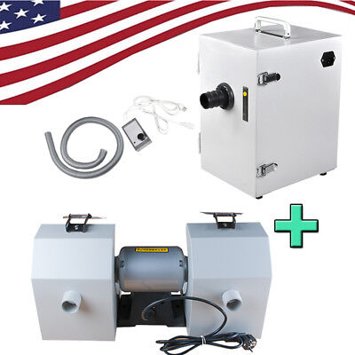 Dental Lab Polishing Lathe Polish Machine W Dust Hook Dustvacuum Cleaner Fda