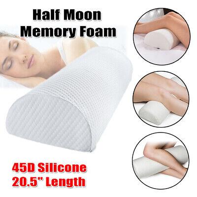 Leg Neck Body Pillow Back Pain Relief Half-Moon Bolster/Wedge Best