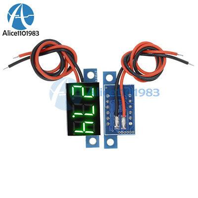 Panel Meter Mini Lithium Battery Digital Voltmeter Dc 3.3v - 17v Green Led