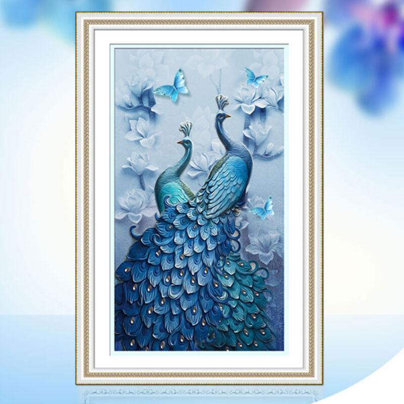5d diamond peacock embroidery painting diy mosaic