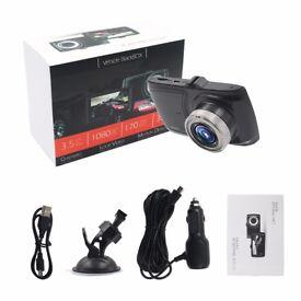 "Dash Cam HD 1080p 170 ° Wide Angle Night Vision Car DVR 3.5""LCD Camera UK G Sensor"