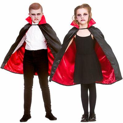 Kinder Super Deluxe Vampir Umhang Halloween Kostüm Umhang Jungen Mädchen