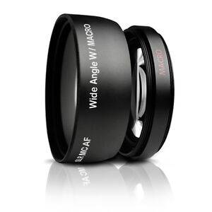 0.43x 52MM Wide Angle Lens + Macro for Nikon Nikkor AF-S DX 18-55mm 55-200mm
