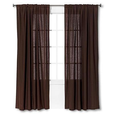 - Threshold Window One Panel Curtain Brown Linen Look 54