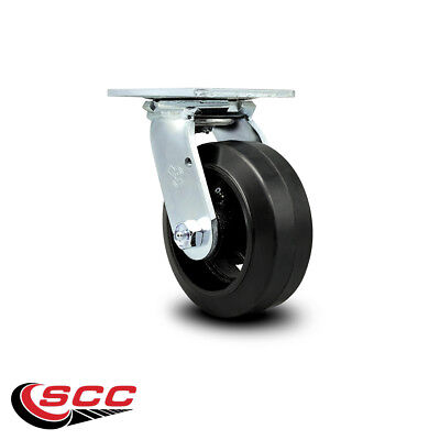 Scc 5 Rubber On Cast Iron Wheel Swivel Caster - 400 Lbscaster