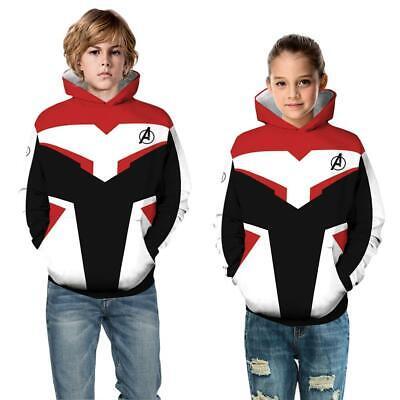Kids Boys/Avengers 4 Endgame 3D Print Hoodie Sweatshirt Pullover Jumper Coat - Kids Avengers