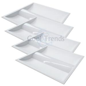 4 packages of Led Troffer, 35W, 5000K, 2x2 (603x603x76mm), AC100-277V