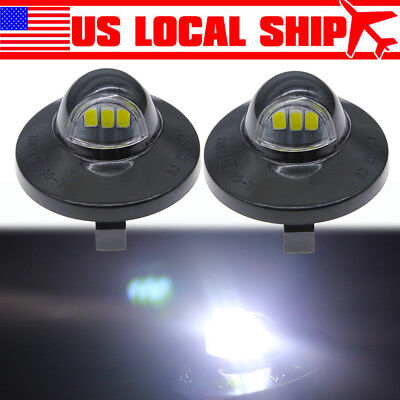 2pcs LED License Plate Light For 1990-2014 Ford F-150 Pickup Truck F250 F350 (1990 90 Ford F350 Truck)