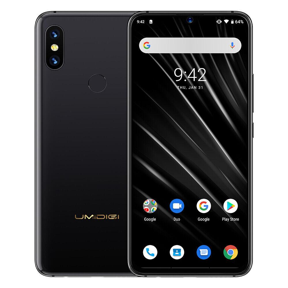 S3 PRO UMIDIGI 6.3Zoll Android 9.0 Smartphone 128GB + 6GB Keramik Handy Schwarz