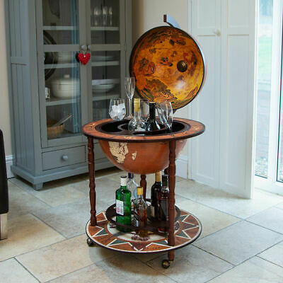Wido LARGE GLOBE SHAPED DRINKS CABINET MINI BAR TROLLEY VINTAGE RETRO ALCOHOL