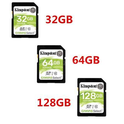 1 * Kingston SD Card Class10 C10 80Mb/S Read Speed 32GB 64GB 128GB Full-HD Z3T6
